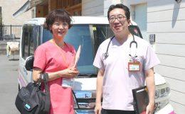 中野看護部長(左)と間嶋理事長(右) 提供:わかさクリニック